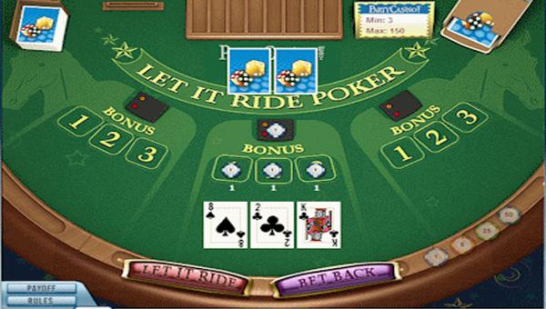 let it ride poker 3 card bonus payout